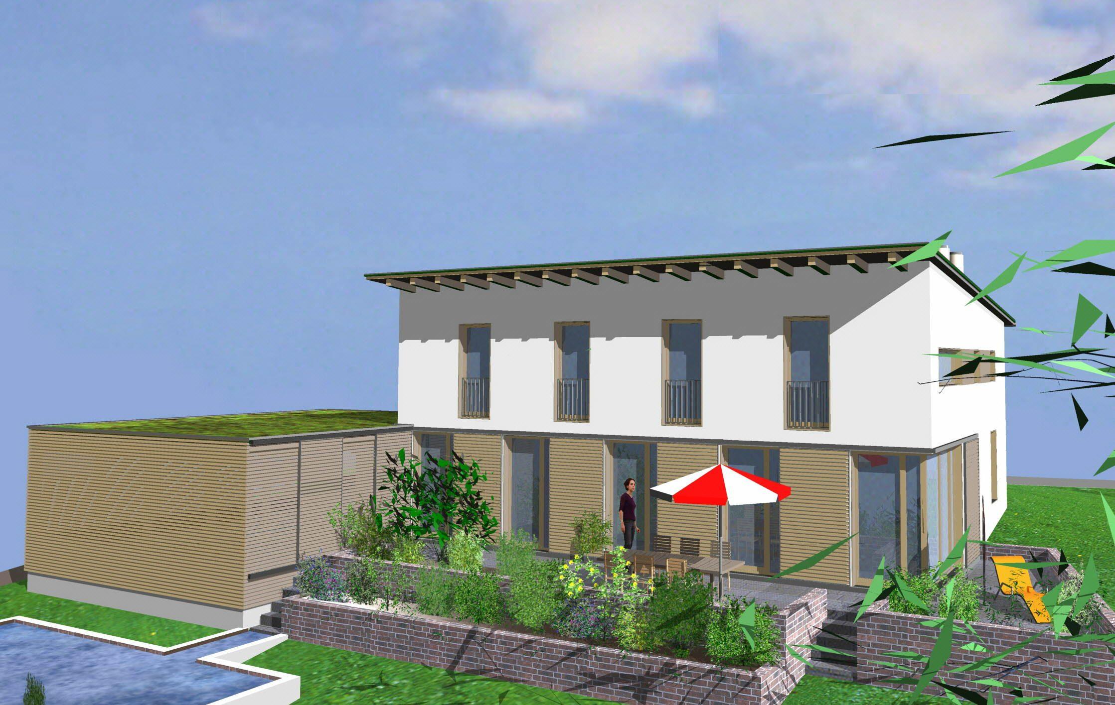 Pultdach Wohnhaus