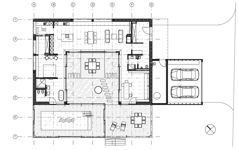 Wohnhaus 1-geschoßig