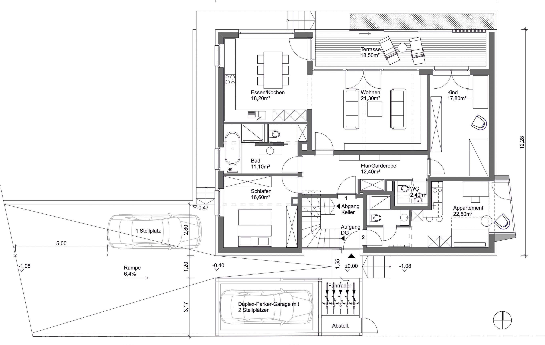 Annette moser seite 2 moser architekten for Grundriss wohnhaus
